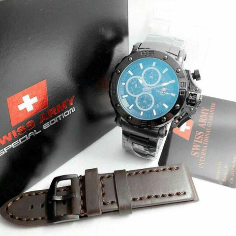 Swiss Army Paket Sa9205 Black (Dark Brown Leather)