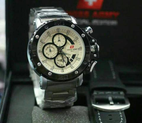 Swiss Army Paket Sa9205 Silver Ring Black (Black Leather)