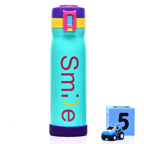 Wadah Botol Minum Thermos Stainless Steel My Smile 500ml Blue