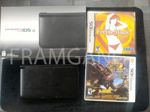 Old 3ds XL Warna Hitam OFW 11.3 + BONUS GAME
