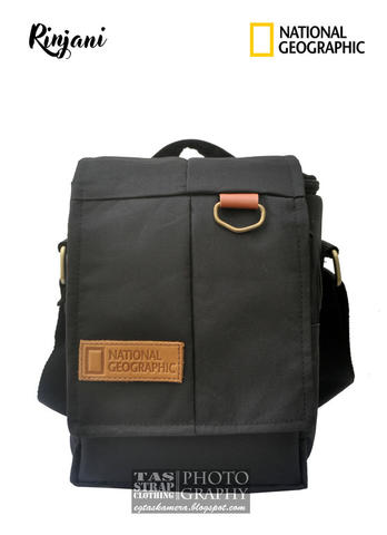 Tas Kamera dslr/mirrorles leather patch simpel,ekonomis, free raincover natgeo