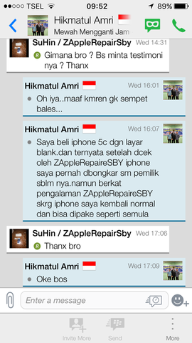 Problem Pada iPhone Sponsored By ZappleRepair Surabaya