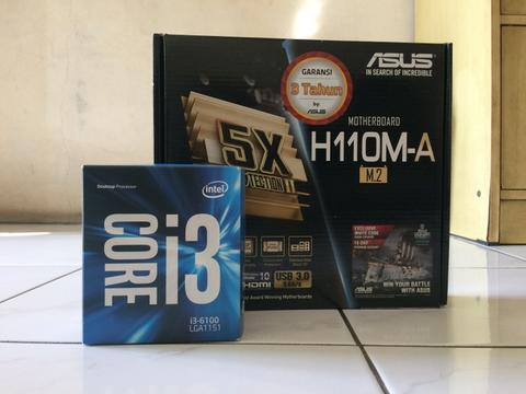 i3 6100 & Mobo Asus H110M-A