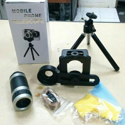 LENSA TELE 8X ZOOM + TRIPOD MINI + HOLDER