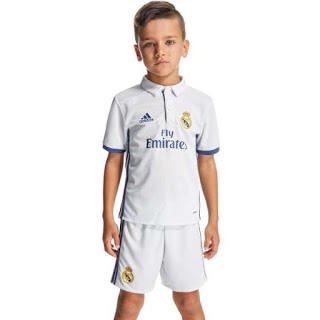 REAL MADRID Official Jersey Home Away 3rd UCL 2016-2017 Kids Boys Anak-Anak Remaja