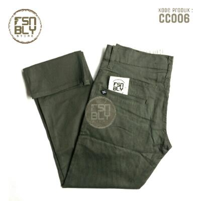 Celana Chino Pants Olive Green (Hijau Army) | theFashionably