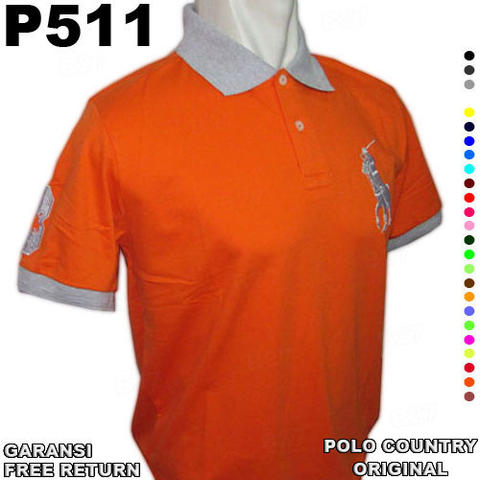 Baju Kaos ORIGINAL POLO COUNTRY P511 100% Cotton GARANSI Free Return