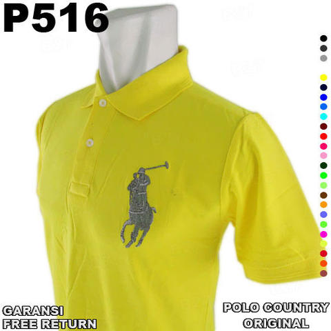 Kaos Kerah ORIGINAL POLO COUNTRY P516 GARANSI Free Return 100% Cotton