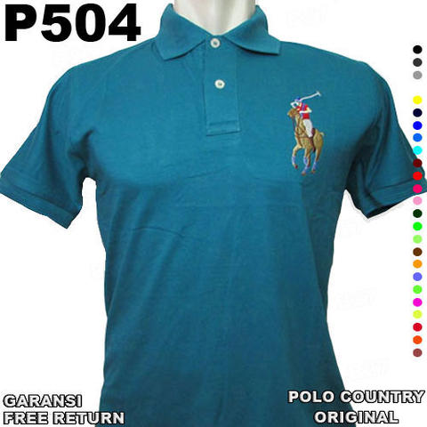 Kaos ORIGINAL POLO COUNTRY P504 100% Cotton GARANSI Free Return