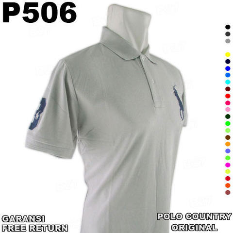 Kaos ORIGINAL POLO COUNTRY P506 100% Cotton GARANSI Free Return