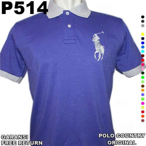 Kaos POLO SHIRT ORIGINAL COUNTRY P514 100% Cotton GARANSI Free Return