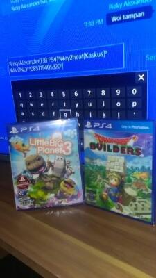 NEW AND SEALED ! Little Big planet 3 & Dragon Quest Builder