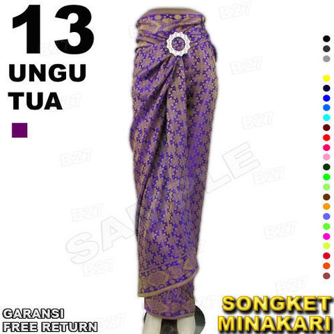 Rok LILIT instan Batik Songket MINAKARI B112-13 include Ring Belt