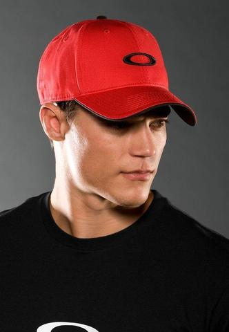 Topi Original Oakley tiny black metal O full Red Color
