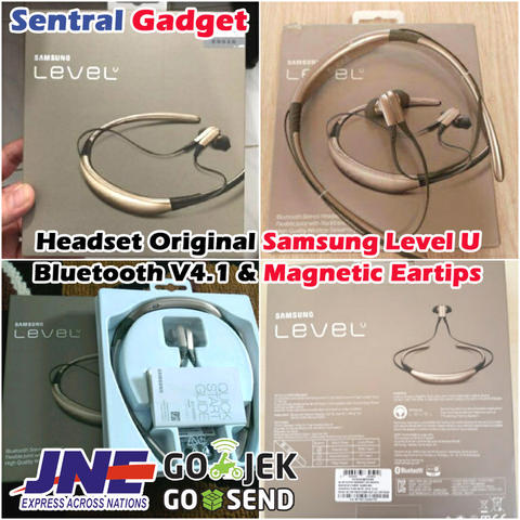 SAMSUNG ORIGINAL HEADSET BLUETOOTH LEVEL U SERIES WIRELESS EARPHONE & MAGNETIC EARBUD