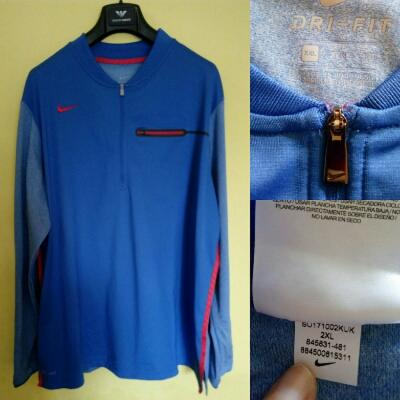 original jaket sweater nike dri fit long sleeve half zip big size/ jumbo