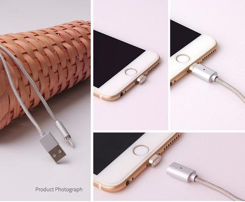 [ITECH] KABEL MAGNETIC CHARGER HOCO U16 TIP LIGHTNING IPHONE FAST/QUICK CHARGING