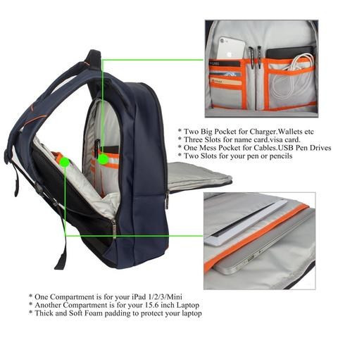 +++ Original Digital Bodyguard DTBG Business Backpack Laptop Bag D8205W 15.6 Inch +++