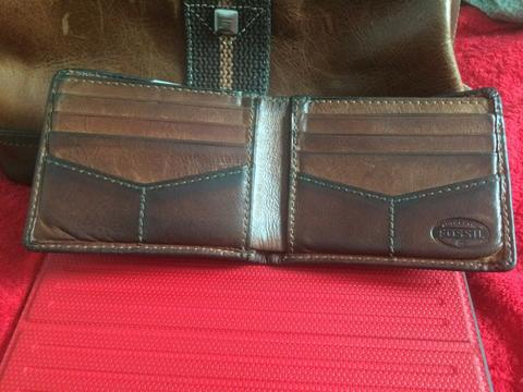 (WTS) dompet fossil brown cowo