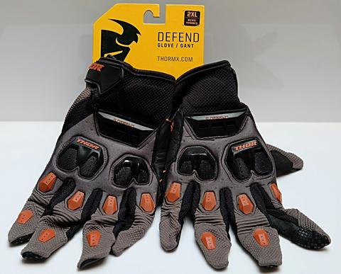 Original sarung tangan Thor Defend charcoal dark orange glove