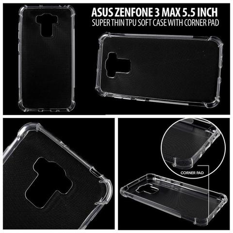 Aksesoris Asus Zenfone 3 Max 5.5 Inch - Super Thin TPU Soft Case with Corner Pad