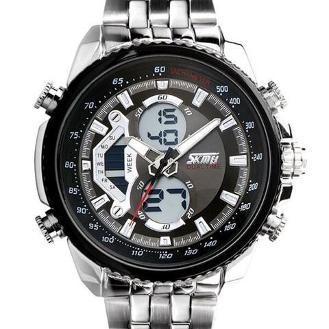 SKMEI Casio Men Sport LED Watch Water Resistant 50m - AD0993 - Hitam