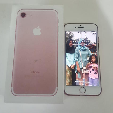 Jual IPHONE 7 rosegold 128gb