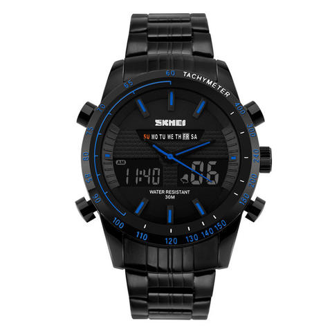 SKMEI + Multifunctional Fashion Watch Water Resistant + 1131 - Biru