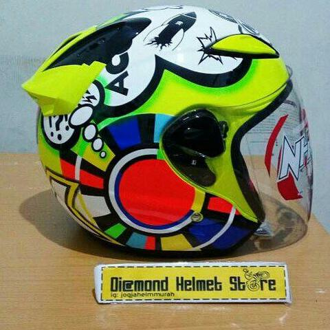 Helm NHK R6 Special Edition Misano 2011 VR46 Yellow Fluo