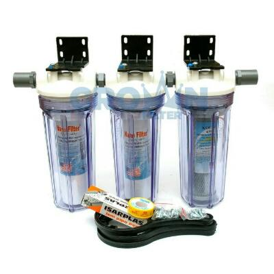 Paket EKO 3 - Saringan / Filter Air Siap Pakai 3 Housing