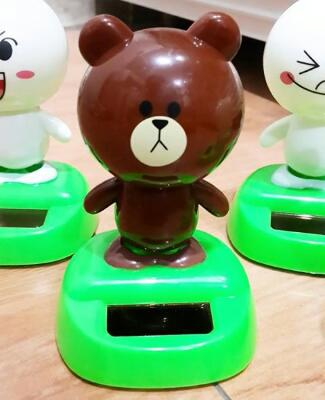 Pajangan Mobil Brown and Cony Solar Cell