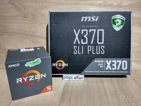 Ryzen R5 1400 - MSI X370 SLI Plus