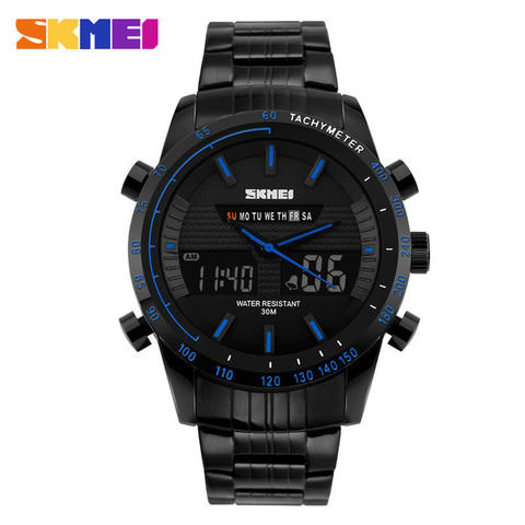 SKMEI Dual Time Multifunctional Fashion Watch WR 30m AD1131 - Hitam Biru