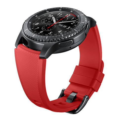 Samsung Silicone Strap for Gear S3 - Merah