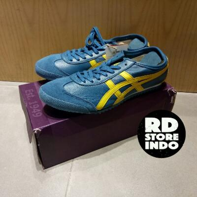 newest b2c65 d4212 Sepatu Onitsuka Tiger Mexico 66 Blue Yellow Deluxe Japan Edition Sneaker