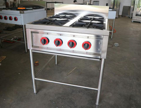 Kompor Gas Stove 4 Tungku Untuk Dapur Cafe Hotel Catering Dll