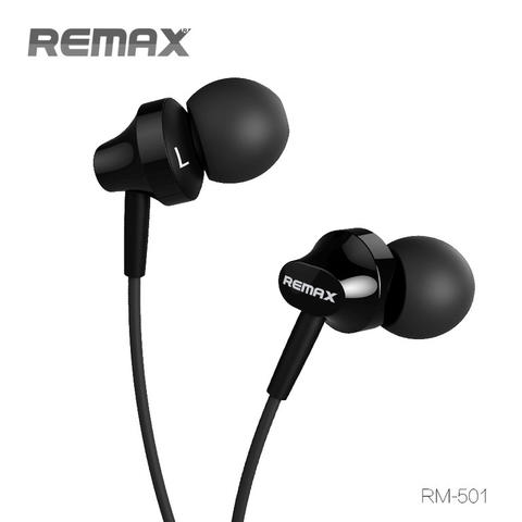 Remax Earphone with Microphone - RM-501 - Black