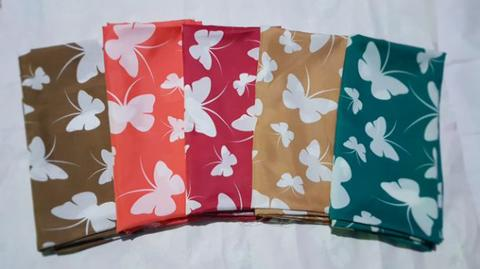 Butterfly Rayon Silk Square - 6Pcs
