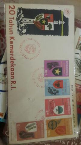 """1 set Perangko PANCASILA """"First day of issue August,17th 1965"""""""