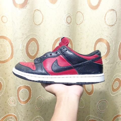 Nike dunk low black red sz 42 ORIGINAL