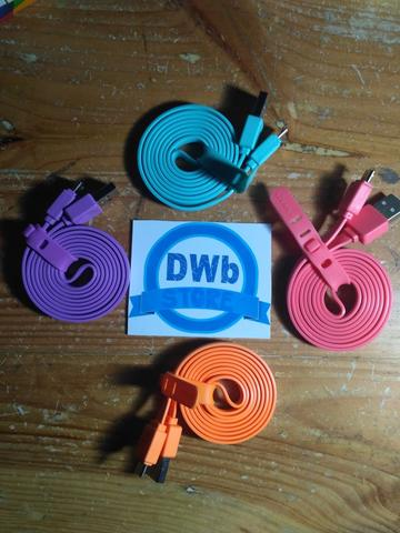 KABEL USB / KABEL DATA / KABEL CHARGER model tali sepatu gepeng 3METER