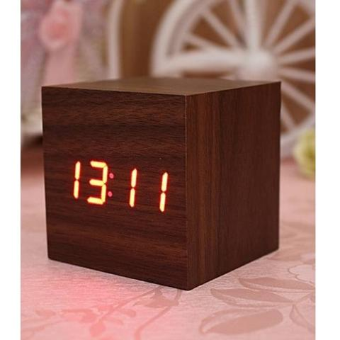 Jam Digital LED Kayu - JK-808 - Wooden
