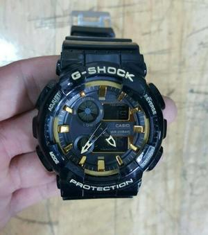 JAM TANGAN PRIA SPORTY CASIO GSHOCK NEW BLACK LIST GOLD