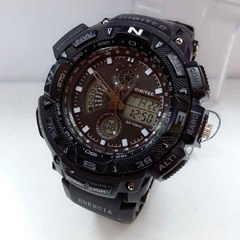 JAM TANGAN SPORTY DIGITEC ORIGINAL DG2044 FULL BLACK