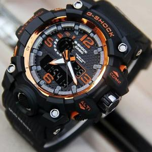 JAM TANGAN PRIA CASIO GSHOCK SPORTY GWG1000 BLACK LIST ORANGE