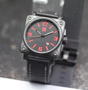JAM TANGAN PRIA SPORTY QUICKSILVER PAKET LIST RED