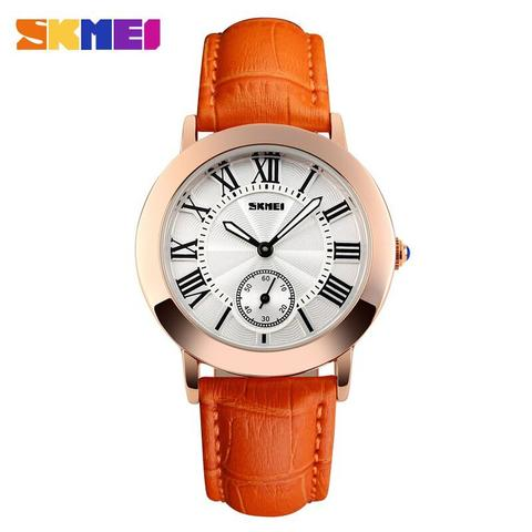 Jam Tangan SKMEI Fashion Casual Lady Leather 1084CL ORI