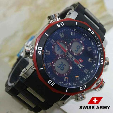 JAM TANGAN SWISS ARMY DOUBLE TIME RANTAI MIKA