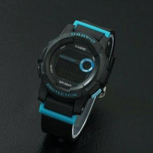 JAM TANGAN WANITA CASIO BABY G DIGITAL BGD 180 BLACK LIST BLUE
