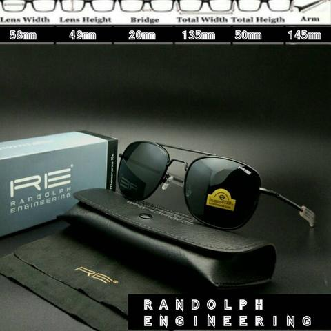 9f3f3ee7f95 Jual Frame Kacamata Aviator Randolph Engineering Black Good Quality ...
